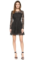 Madison Marcus Delicate Long Sleeve Dress Jet Black