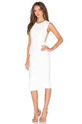 Mason By Michelle Mason Lace Midi Dress White