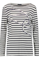 Petit Bateau Printed Cotton Jersey Top Blue