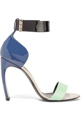 Nicholas Kirkwood Maeva Color Block Patent Leather Sandals Storm Blue
