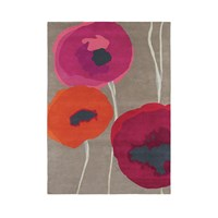 Sanderson Poppies Red Orange Rug 140X200cm