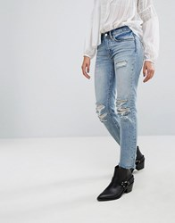 Allsaints Muse Slim Destroys Jeans Blue