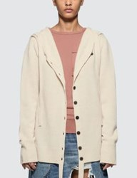 J.W.Anderson Jw Anderson Wool Cashmere Hooded Cardigan