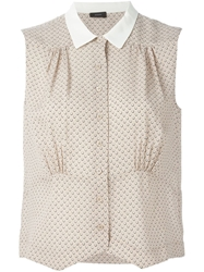 Joseph Polka Dot Sleeveless Shirt