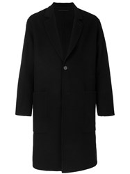 Ami Alexandre Mattiussi Oversized Two Buttons Coat Wool Black