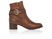 Chloe Women's Max Leather Ankle Boots Dark Brown