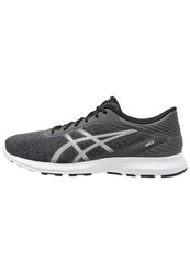Asics Nitrofuze Cushioned Running Shoes Dark Steel White Black Dark Gray