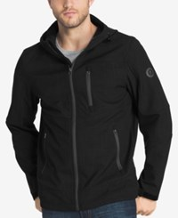 G.H. Bass And Co. Men's Lightweight Zip Up Jacket Black Meteorite