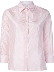 Carolina Herrera Three Quarter Sleeves Shirt Pink And Purple