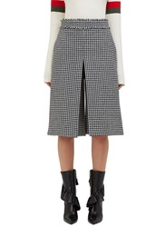 J.W.Anderson Houndstooth Box Pleat Culottes Black
