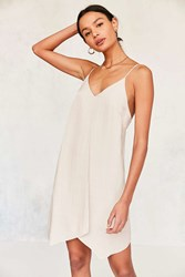 Six Crisp Days Tie Back Slip Dress Cream