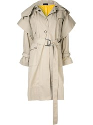Eudon Choi Belted Trench Coat Neutrals