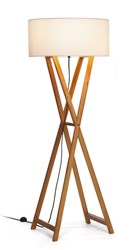 Marset Cala Indoor Floor Lamp A645 032 P140 Small 55.1 In H Dark Oak Brown White
