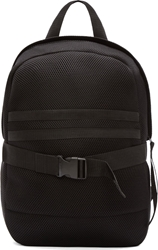 Denis Gagnon Black Mesh Striped Pocket Backpack