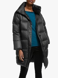 Eileen Fisher Funnel Neck Coat Black