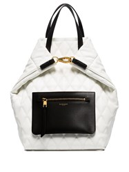 Givenchy Pouch Pocket Quilted Backpack White