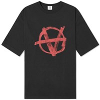 Vetements Oversized Anarchy Tee Black