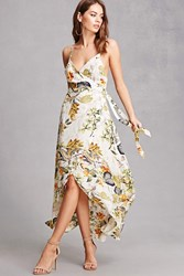 Forever 21 Tropical Floral Cami Wrap Dress Multi