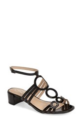 J. Renee Terri Ankle Strap Patent Sandal Wide Width Available Black