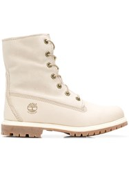 Timberland Lace Up Boots White