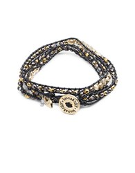 Lonna And Lilly Beaded Wrap Bracelet Brass