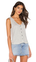 Cupcakes And Cashmere Serotta Tank In Gray. Light Heather Grey