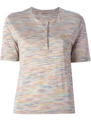 Missoni Vintage Striped Logo Polo Shirt Multicolour