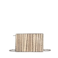Calvin Klein Collection Zipped Clutch In Watersnake Skin
