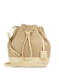 Kenneth Cole Nevins Street Leather Bucket Bag Bone Mushroom