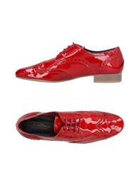 Dama Lace Up Shoes Red