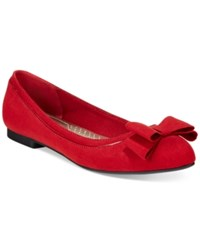 Karen Scott Chandii Bow Flats Only At Macy's Women's Shoes Red