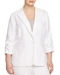 Michael Michael Kors Plus New Boyfriend Blazer White