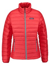 Patagonia Down Jacket French Red Mogul Blue