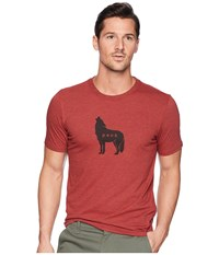 Prana Wolf Pack Journeyman Tee Mulled Wine Heather T Shirt Burgundy