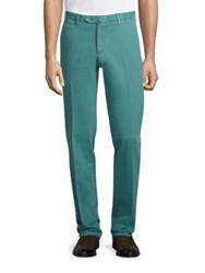 Isaia Solid Cotton Pants Orange Navy White Teal