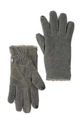Isotoner Smartouch Stretch Fleece Gloves Gray