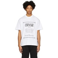 Versace Jeans Couture White Warranty Label T Shirt
