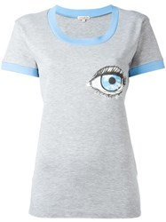 Natasha Zinko Eye Print T Shirt Grey