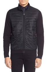 Men's Big And Tall Calibrate Quilted Mixed Media Jacket Black Caviar