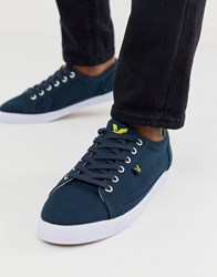 Lyle And Scott Cotton Trainers Navy