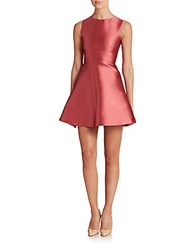 Red Valentino Taffeta Fit And Flare Dress Rose