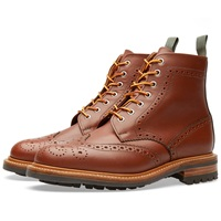 Mark Mcnairy Commando Sole Brogue Boot Tan Waxy