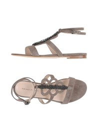 Fabiana Filippi Footwear Sandals Women Dove Grey