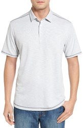 Tommy Bahama Men's New Double Tempo Spectator Jersey Polo Gravel