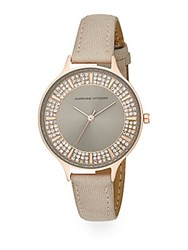 Adrienne Vittadini Av Embellished Analog Watch Rose Gold