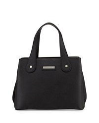 Charles Jourdan Structured Weber Leather Tote Bag Black