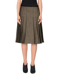 Borbonese Skirts Knee Length Skirts Women Military Green