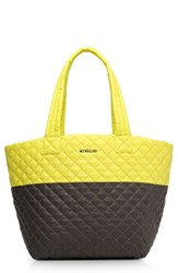M Z Wallace Mz 'Medium Metro' Quilted Oxford Nylon Tote Yellow Neon Yellow Magnet