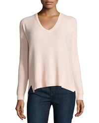 Joie Long Sleeve V Neck Knit Sweater Soft Pink