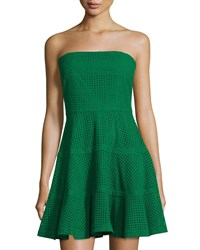 See By Chloe Strapless Eyelet Fit And Flare Dress Green